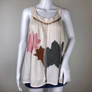 Anthropologie Flowy Tank Top Size 4